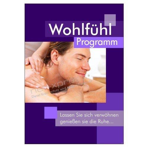 Foto de Cartel para Anuncio Práctica de masaje A1, Cartel de publicidad cartel Masaje Bienestar
