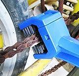 Utile bici catena spazzola di pulizia strumenti di pulizia (blu)