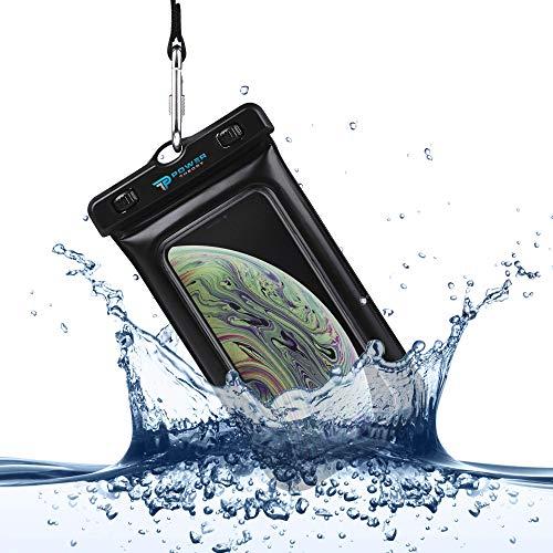 Power Theory wasserdichte Handyhülle - Wasserfeste Handytasche Handyschutz Cover Beutel Beachbag Tasche Handy Hülle Waterproof Case - iPhone X/XS 8 7 6s Samsung S10 S9 S8 S7 & viele mehr (Schwarz)