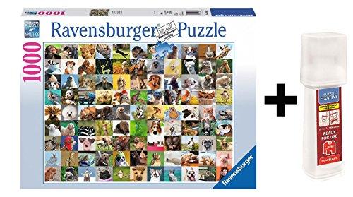 Pack Puzzle Ravensburger 19642. 99 Divertidos Animales. 1000 piezas + Pegamento puzzle.