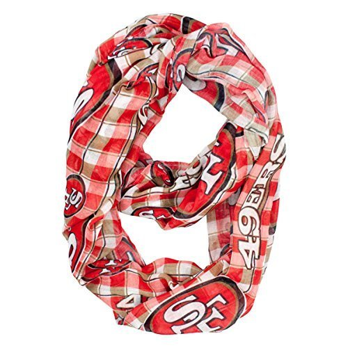 san-francisco-49ers-sheer-plaid-infinity-fashion-scarf-by-littlearth