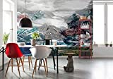 Komar - Vlies Fototapete UP AND DOWN - 368 x 248 cm - Tapete, Wand, Dekoration, Wandbelag, Wandbild, Wanddeko, Berge, Berggipfel - XXl4-053