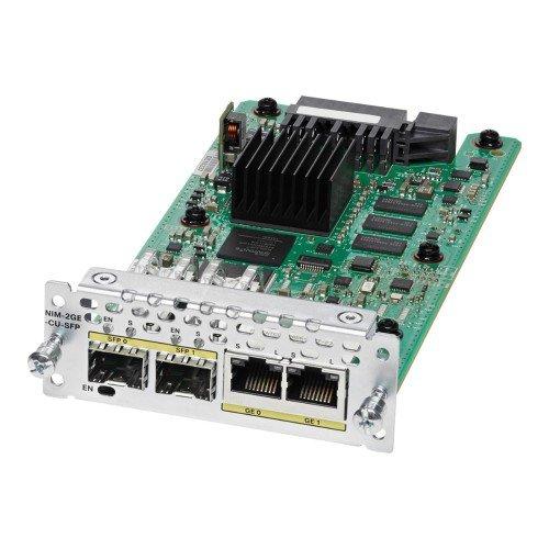 Cisco nim-2ge-cu-sfp Gigabit Ethernet Modul Schaltleistung Netzwerk-Module Schaltleistung Netzwerk (Gigabit Ethernet, 1000Mbit/s, SFP, Cisco 4000, 0-40°C,-40-70°C)