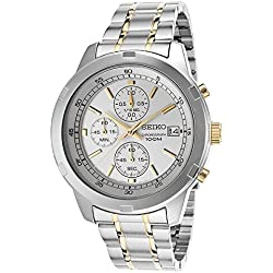 Seiko SKS423P1 Quartz - Wristwatch men's, Stainless Steel, Band Colour: Grey
