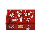 Holzaufbewahrung Schmuckschatulle Red Vintage Handmade Box mit Schloss