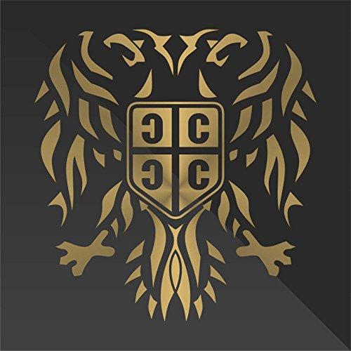 erreinge Sticker Serbia Serbie Serbien Aquila Eagle Aigle águila Adler - Decal Cars Motorcycles Helmet Wall Camper Bike Adesivo Adhesive Autocollant Pegatina Aufkleber - cm 10 (Helm-moto-symbol)
