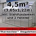 4,5m² Profi - Anlehn Gewächshaus Anlehngewächshaus Glashaus m. 6mm Hohlkammerstegplatten - (Platten MADE IN AUSTRIA) inkl. Stahlfundament von AS-S von AS-S - Du und dein Garten