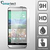 SmarTect® HTC One M7 Premium Tempered Glass Displayschutzfolie aus gehärtetem Gorilla Glas (Hartglas / Schutzglas / Panzerglas) - Screen Protector mit Härtegrad 9H (0,33 mm, gerundete Kanten)