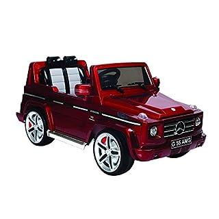 Autostyle Batterie-Auto Mercedes G55 Rot - 12V - inkl. MP3 und Fernbedienung - ab 3 Jahr