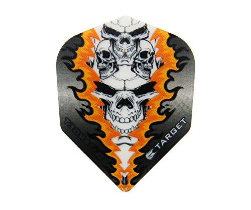 TARGET Pro 100 Vision Flights Quad Skull, 3 Stück (Orange)