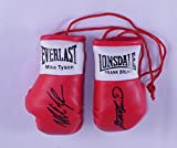 Autographe Mini-gants de boxe Frank Bruno vs Mike Tyson
