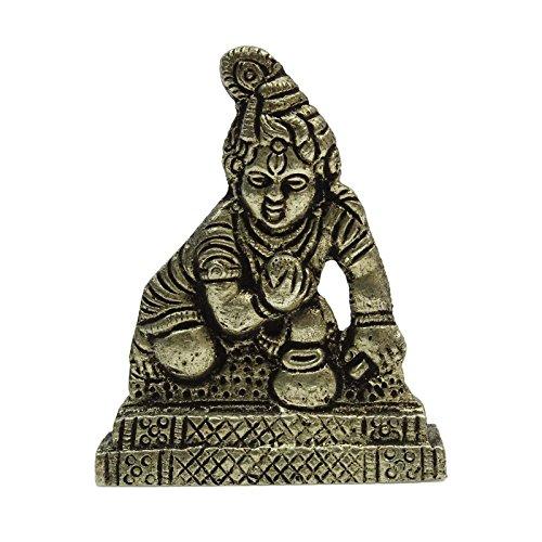 Indianbeautifulart Señor Krishna Regalo del Oro Estatua Coche Dashboa