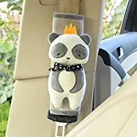 unlockgift Cute Animal Soft Harness Baby Car Seat Belt Pads Covers Shoulder Pads Universal Fit Car Seat Belt Pads 2PCS (Panda)