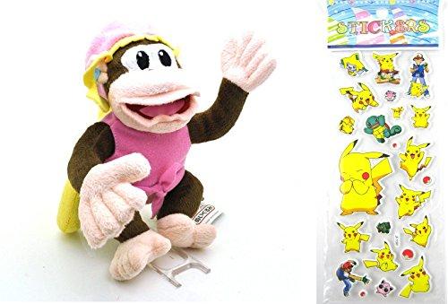 nintendo-super-mario-dixie-kong-plush-toy-doll-around-17cm-6-pokemon-sticker-children-one-size-dixie