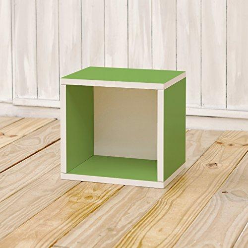 Way Basics 11.2 L x 13.4 B x 12.8 H Eco Stackable Storage Cube and Cubby Organizer, Grün (werkzeuglose Montage und einzigartige Verarbeitung aus nachhaltiger ungiftiger zBoard Pappe) - Cube Storage-system