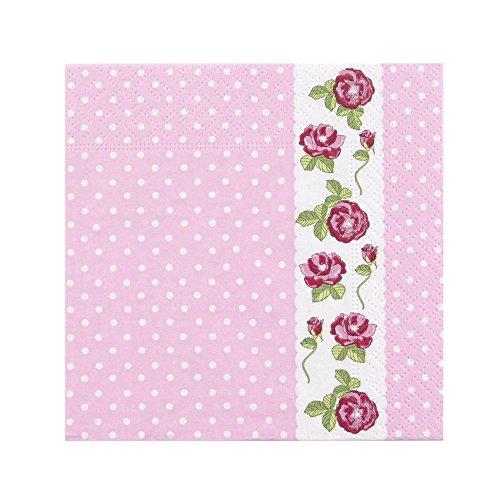 Neviti 595426Vintage Rose–Serviette (Servietten 3-lagige Blume)