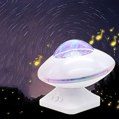 Romantischer sternenklarer kreativer UFO-Auftritt-Desktop-UFO-Projektions-Sprecher, weiß