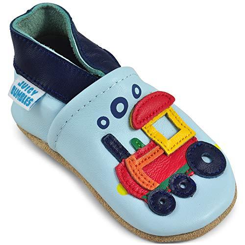 Scarpe bambino - scarpe neonato in morbida pelle - scarpine neonato primi passi - locomotiva - 12-18 mesi