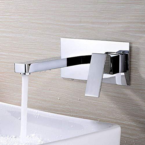 Novopus Bad Wasserhahn - Zeitgenössische Wandmontage drehbare Keramikventil Zwei Löcher Einhand Zwei Löcher Chrom, Waschbecken Wasserhahn, 1 -