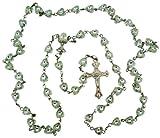 Katholische Mädchen Erstkommunion Geschenk 6mm Herz Form Bead mit Kelch Center 48,3cm Rosenkranz Halskette