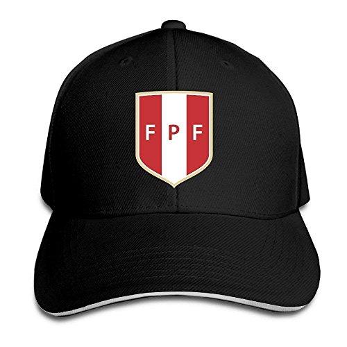 UUOnly Peru Soccer Team Sandwich Schirmmütze/Kappe Schwarz Columbia-mesh-hut