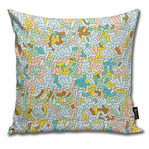 False warm warm Funky-Abstract-Swirl-Vector Home Decoration Pillow Sofa Cushion 18 x 18 Inch