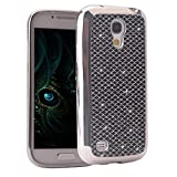 Galaxy S4 Mini Case, Moon mood Ultra Slim Bling Bumper Silicone TPU Gel Protective Cases Soft Back Case Cover with Stripe Skin Phone Shell for Samsung Galaxy S4 Mini I9190 I9192 I9195