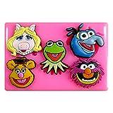 Muppets KERMIT Fräulein Piggy Fozzy Gonzo Animal Silikon Form für Kuchen Dekorieren, Kuchen, kleiner Kuchen Toppers, Zuckerglasur Sugarcraft Werkzeug durch Fairie Blessings