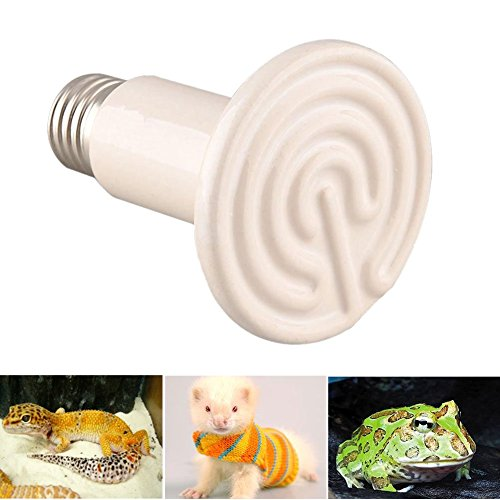 Gladle 220V 100W Reptil-Hitze-Lampe Infrarot-Keramik-Heizung Natural Heat Emitter Appliances Lampenbirne -