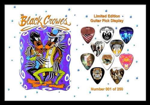 Black Crows Premium Celluloid Chitarra Pick Plettro Plettri Display Large A4 Sized