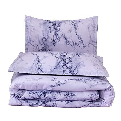 A Nice Night Paisley Schwarz Blume Tröster Set Bed-in-a-Bag, Queen Art Deco Queen Blue-Marble -