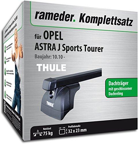 Rameder Komplettsatz, Dachträger SquareBar für Opel ASTRA J Sports Tourer (116391-09017-1)