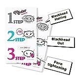 Holika Holika - Pig Nose Clear Black Head 3 Step Kit (No Water) für Frauen und Männer - Nasenpflaster gegen Mitesser und Unreinheiten - Black Head Entfernung in drei Schritten ohen Wasser - Nasenpflaster gegen Mitesser und Unreinheiten - Gesichtsreinigung unreine Haut für Männer und Frauen - Gesichtsmasken & Gesichtskuren - Streifen - Tagespflege - Gesichtspeelings