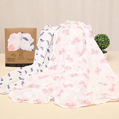 LoKauf 2er Set Baumwolle Babytücher Pucktuch Spucktücher Pucktücher Puckdecke Spuckdecke Mulltuch Swaddle-120 x 120cm