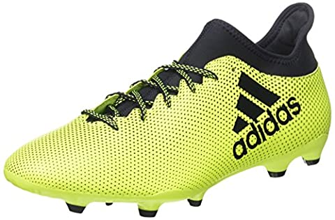 adidas X 17.3 Fg, Chaussures de Football Homme, Blanc, Multicolore (Solar Yellow/legend Ink /legend Ink ), 44 EU