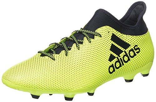 adidas Herren X 17.3 FG Fußballschuhe, Weiß, Mehrfarbig (Solar Yellow/Legend Ink/Legend Ink), 47 1/3 EU