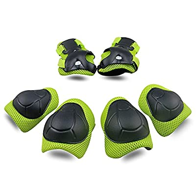 Knee Pads, Elbow Pads Wrist Guards [Upgraded Vistion 2.0] Protective Gear Set for Skateboard,Biking, Riding, Cycling and Multi Sports, Scooter, Bicycle, Rollerblades from TOPFIRE