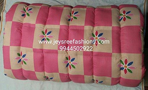Jeysree Fashions Kapok Silk Cotton-ilavam Panju (Semal) Foldable Hostel Mattress, Pink, 6.25x2.5 ft