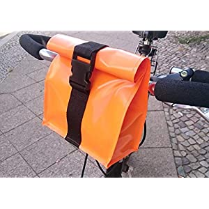 Lenkertasche, wasserdicht aus LKW Plane orange von TITA BERLIN