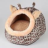 2in 1–Hundebett Hundehütte Matratze Bett in Form von Giraffe–Hunde und Katzen–3Größen
