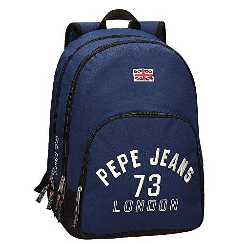 Pepe Jeans Mochila Adaptable a Carro, Diseño Kanoa, Color Azul, 30.98 Litros