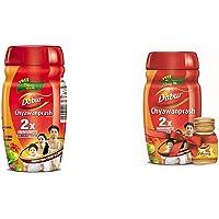 Dabur Chyawanprash - 500 g (Get 75g Free) & Dabur Chyawanprash - 1 kg with Free Dabur Honey - 50 g