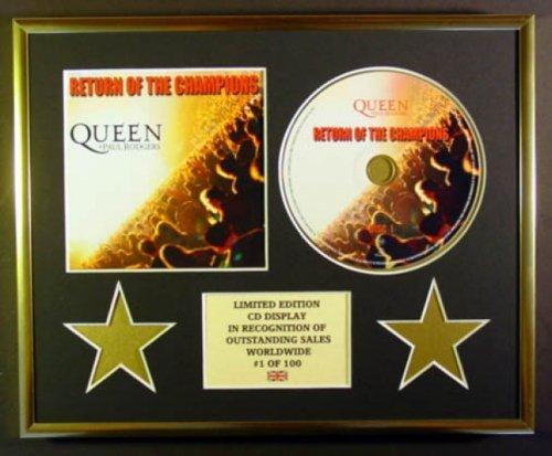 QUEEN & PAUL RODGERS/CD Display/Edicion Limitada/Certificato di autenticità/RETURN OF THE CHAMPIONS