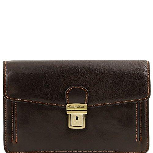 Tuscany Leather Tommy - Esclusivo borsello a mano in pelle - TL141442 (Marrone) Testa di Moro