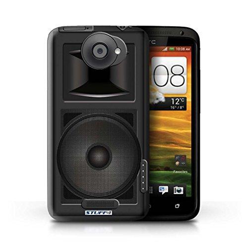 Kobalt® Imprimé Etui / Coque pour HTC One X / Amplificateur conception / Série Haut-Parleur dessin Moniteur Studio