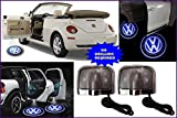 #9: PREMIUM QUALITY VOLKSWAGEN CAR LOGO LED GHOST SHADOW WELCOME LIGHT DOOR PROJECTOR,SET OF TWO.NO DRILL REQUIRED.