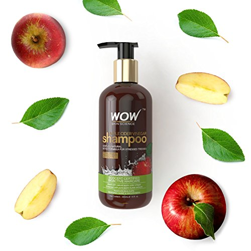 WOW Apple Cider Vinegar No Sulphate and Parabens Shampoo, 300ml