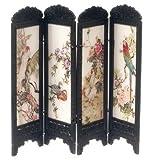 Puppenhaus Miniatur Chinese Boudoir Umkleide Trennwand Exotische Vögel Design 8132