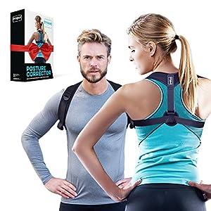 Haltungskorrektur für aufrechte Körperhaltung – Rückenstütze unter/über der Kleidung tragen – Gerader Rücken im Büro – Keine Rückenschmerzen – Qualitäts Posture Corrector für Damen & Herren