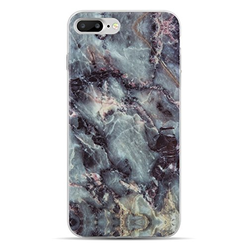 iPhone 8 Plus, iPhone 7 Plus Marmor Hülle | JAMMYLIZARD Marble Case aus Silikon Ultra Slim Backcover Handyhülle, Blau EIS